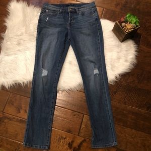 Level 99 Morgan Slouchy Straight Distressed Jeans
